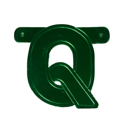 Bannerletter 'Q'groen