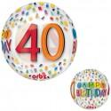 Folieballon rainbow birthday Orbz '40'