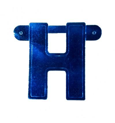 Bannerletter 'H' blauw