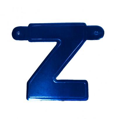 Bannerletter 'Z' blauw