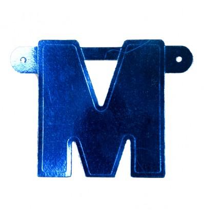 Bannerletter 'M' blauw
