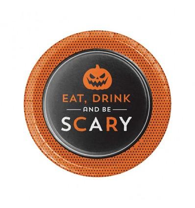 Bordjes Halloween humor (Ø18cm, 8st)