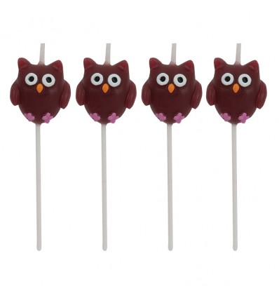 Kaarsjes owl pal (4st)