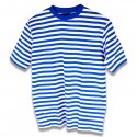 Dorustrui korte mouw blauw/wit (152/164)