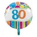 Folieballon '80' bright&bold (46cm)