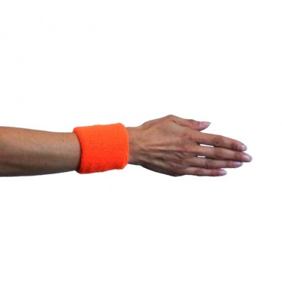 Polsband neon oranje (2st)