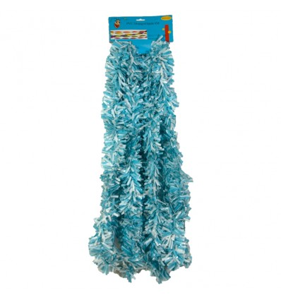 Draaiguirlande wit/babyblauw (PVC)