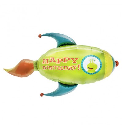 Folieballon birthday rocket (104cm)