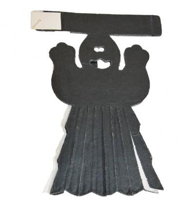Slinger spook (zwart/wit, 6m)