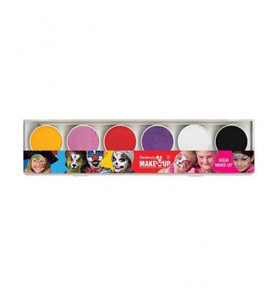 Aqua make-up palet meisjes (6 kleuren)