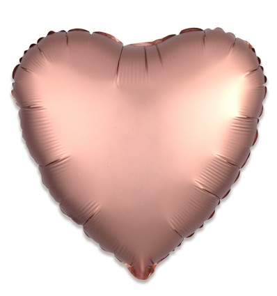 Folieballon hart satin rosékoper (43cm)