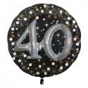 Folieballon sparkling 3D '40' (81cm)