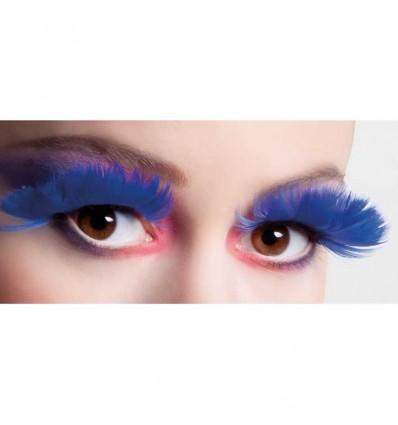 Wimpers veren blauw (zelfklevend)