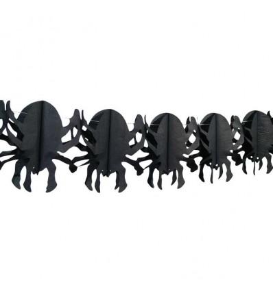 Slinger spin zwart (4m)