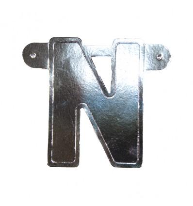 Bannerletter 'N' zilver