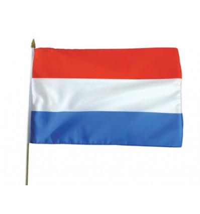 Vlag op stok stof Nederland (30x45cm)