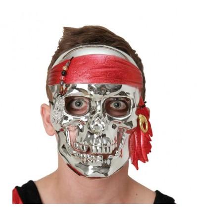 Skelet masker zilver