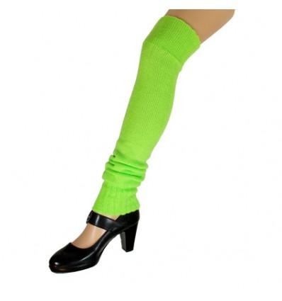 Beenwarmers over-knee fluor groen