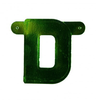 Bannerletter 'D' groen