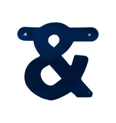 Bannersymbool '&' blauw