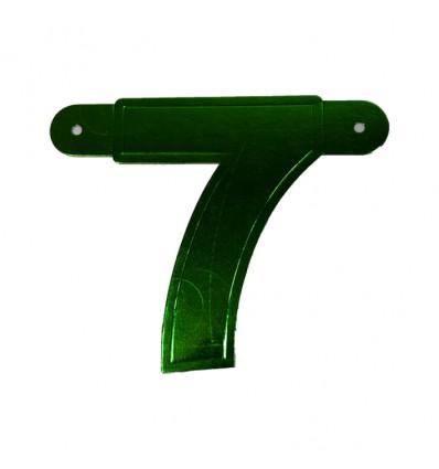 Bannercijfer '7' groen