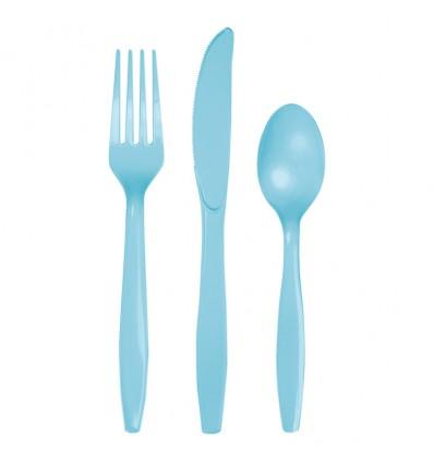 Bestek pastel blue (18st)