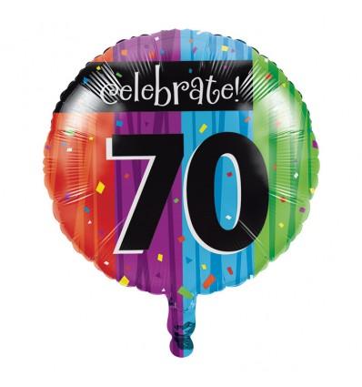 Folieballon milestone '70' (46cm)