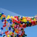 Drop net voor 500 ballonnen