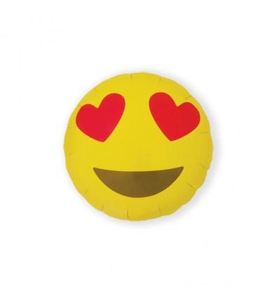 Folieballon emoji heart eyes (46cm)
