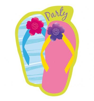 Uitnodigingen slippers (8st)