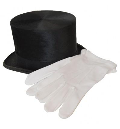 Handschoenen wit katoen deluxe (mt 18)