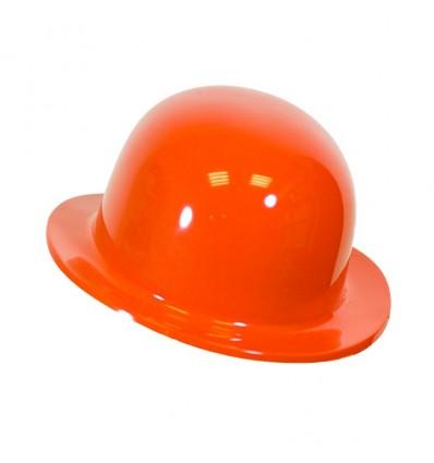 Bolhoed plastic oranje (kindermaat)