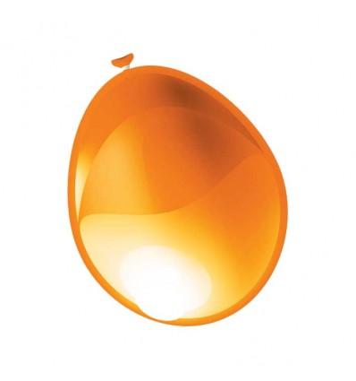 Ballon metallic oranje (Ø61cm)