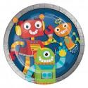 Bordjes party robots (Ø23cm, 8st)