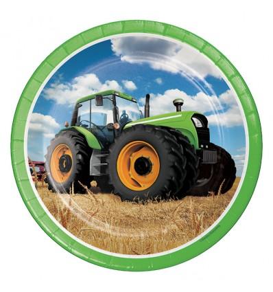Bordjes tractor time (Ø23cm, 8st)