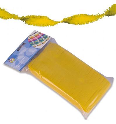 Crêpeslinger geel (6m)