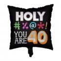 Folieballon '40' holy bleep (46cm)