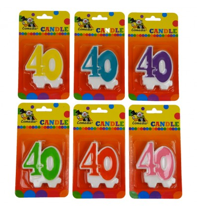 Nummerkaars '40' (7cm)