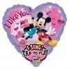 Folieballon Mickey&Minnie muziek (74cm)
