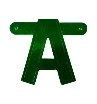 Bannerletter 'A' groen