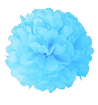 Pompoms babyblauw (2st)
