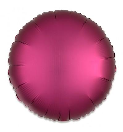 Folieballon rond satin granaatappel 43cm