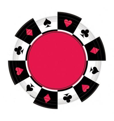Bordjes kaartspel (Ø18cm, 8st)