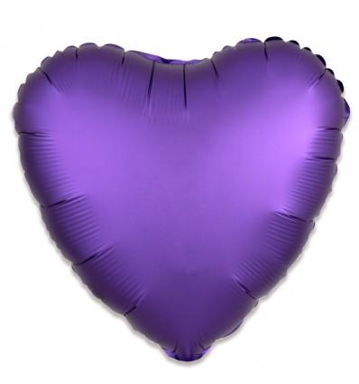 Folieballon hart satin koningspaars 43cm