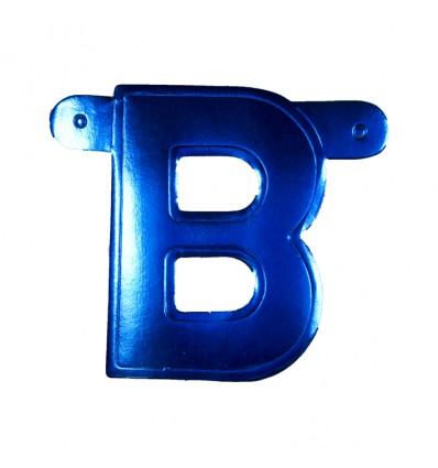 Bannerletter 'B' blauw