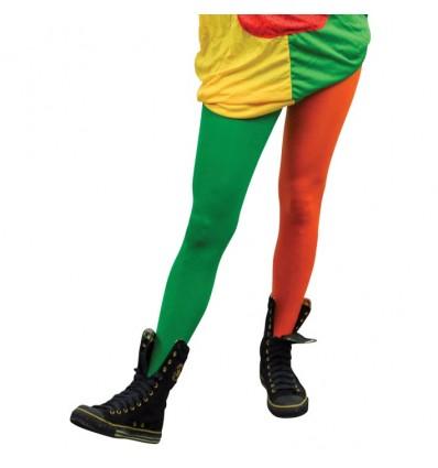 Panty Pippi oranje/groen (mt XL)