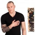 Tattoo sleeve dragon skull