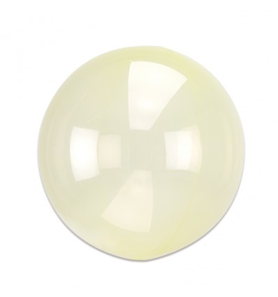 Folieballon Clearz geel (40cm)