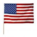 Vlag op stok stof USA (30x45cm)
