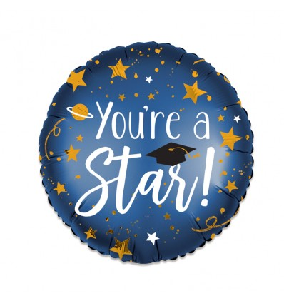 Folieballon 'You're a star' (43cm)